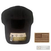 Tac Shield Government Contractor Cap BLK T27BK + US Flag PATCH Coyote 03802