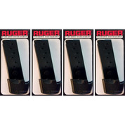 RUGER 90404 LC9 LC9S 9mm 9-Round Magazine 4-PACK + Grip Extensions OEM