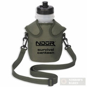 NDur 100+Gal Survival Canteen w/Advanced Filter 46Oz Olive 52060