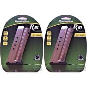 REMINGTON R51 9mm 7 Round Steel MAGAZINE 2-PACK 17696