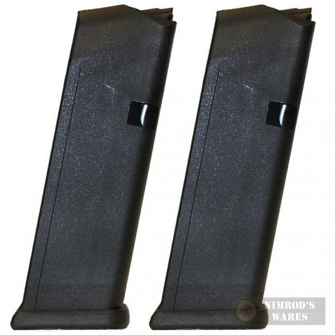 GLOCK 19 G19 9mm 15 Round MAGAZINE 2-PACK Bulk Packaging 19115