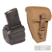 MAGPUL PMAG® D-60™ 60-Round 5.56X45mm NATO / .223 Remington DRUM Magazine + POUCH AR-15 / M4 MAG576-BLK MAG651-251
