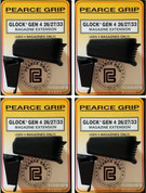 Pearce Grip Gen4 Glock 26 27 33 39 Grip Extension+ 4-PACK ADD CAPACITY to MAGAZINE PG-G42733