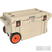 PELICAN 80qt 10-Day Bear-Resistant Wheeled COOLER TAN 32-80QW-OC-TAN