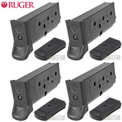 RUGER LCP II .380 ACP 6 Round MAGAZINE 4-PACK 90621