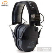 Walker's RAZOR Slim Ear Muffs PATRIOT 2X Flag Patches GWP-RSEMPAT