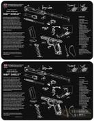 "TekMat S&W M&P Shield Armorer Bench MAT 2-PACK 11""x17"" 17-MP-SHIELD"