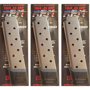 Chip McCormick 1911 RAILED Power Mag .45ACP 10 Round MAGAZINE 3-PACK 17150