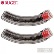 RUGER BX-25-CLR for 10/22 / SR-22 / 22 Charger / American Rifle / 77/22 .22 LR 25 Round MAGAZINE 2-PACK 90591