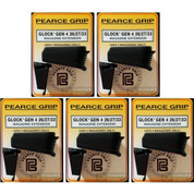 Pearce Grip Gen4 Glock 26 27 33 39 Grip Extension+ 5-PACK ADD CAPACITY to MAGAZINE PG-G42733