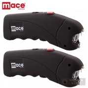 Mace STUN GUN 2-PACK 2.4 million VOLTS + LED Light + CASE 80323