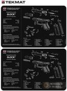 "TekMat GLOCK 42 43 Armorer Cleaning Bench MAT 2-PACK 11""x17"" 17-GLOCK-42-43"