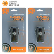 UST FLOATING LIGHTER 2-PACK Survival Prepper 80 mph WINDS OK! 20-W10-01