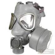 Mil-Surplus Finnish Gas Mask + Nuclear Biological Chemical Suit MED/Gloves/Bag