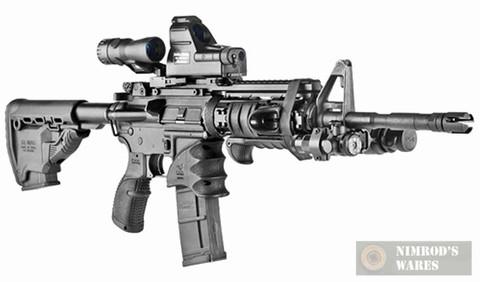 MAKO AGR43 OD Green Textured Rubber Pistol Grip for .223