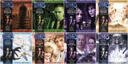 Complete set of 8 Eighth Doctor Adventures Big Finish Audio CDs - Season 1