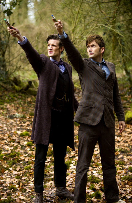 10th and 11th Doctors with Sonics - 50th Anniversary Day of the Doctor Print