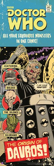 """Origin of Davros Comic Cover Door Poster 11.75"""" X 36"""