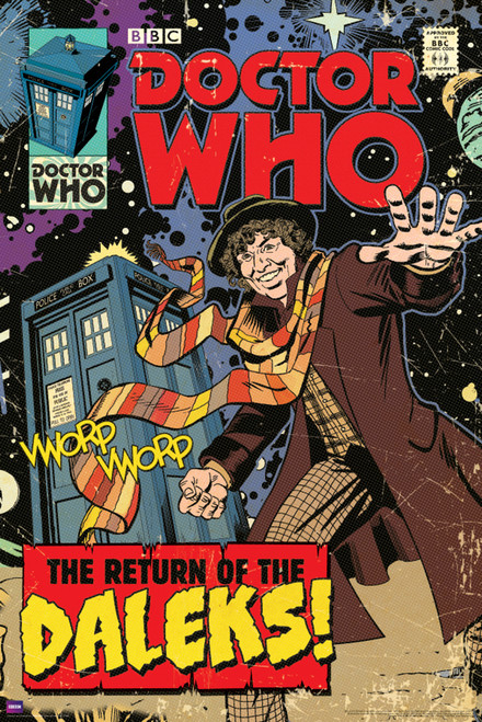 "Return of the Daleks Comic Cover Poster 24"" x 36"""