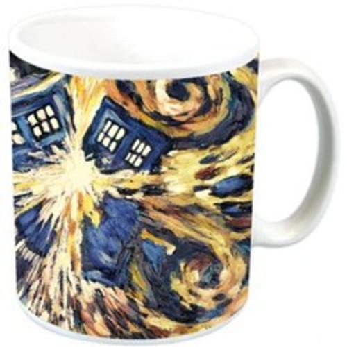 Vincent Van Gogh TARDIS Ceramic Mug