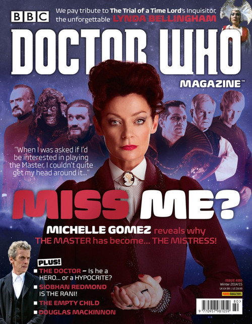Doctor Who Magazine #480 Michelle Gomez talks about the Master!