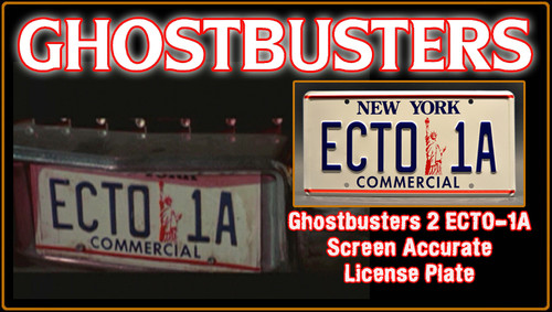 """License Plate - GHOSTBUSTERS- """"ECTO 1A"""""""
