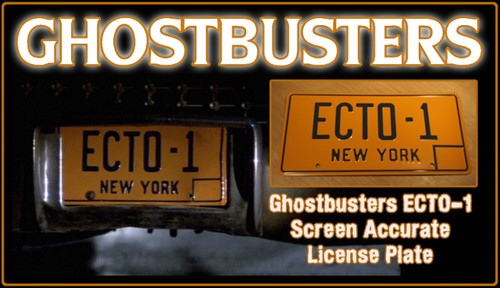 """License Plate - GHOSTBUSTERS- """"ECTO-1"""""""