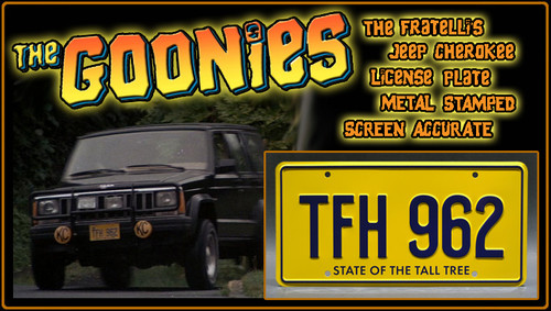 """License Plate - The GOONIES - """"TFH 962"""""""
