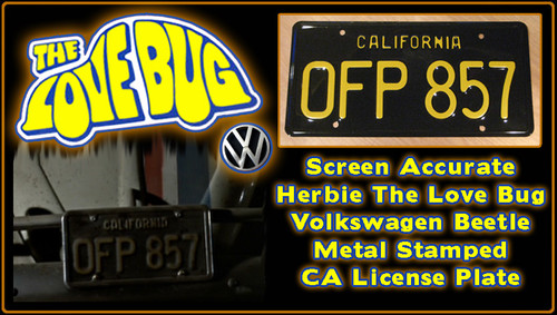"License Plate - The LOVE BUG - ""OFP 857"""