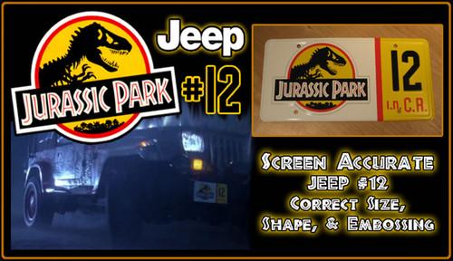 License Plate - JURASSIC PARK - Jeep 12