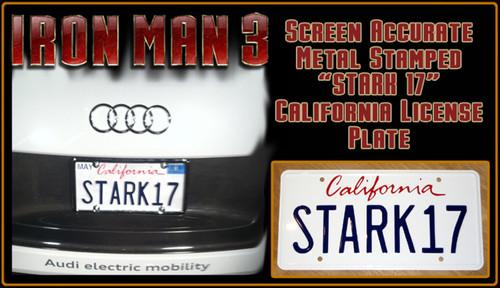 "License Plate - IRON MAN 3 - ""STARK17"""