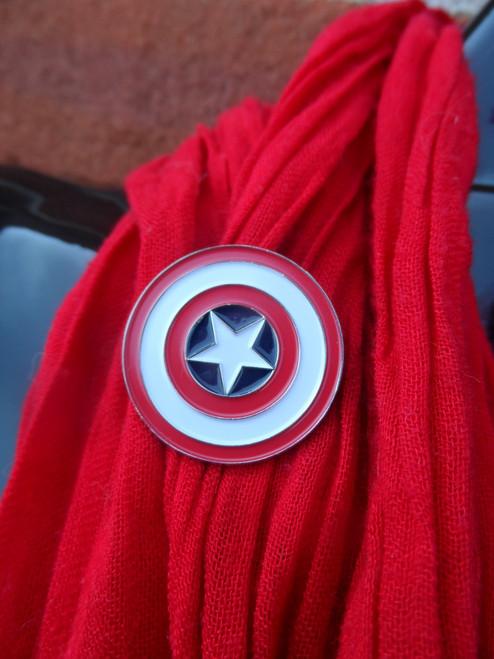 Captain America Shield Enamel Pin