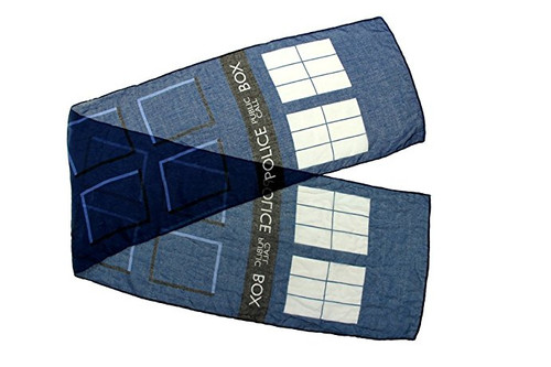 "TARDIS Lightweight ""Everyday Wear"" Scarf"