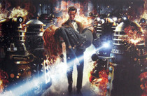 Asylum of the Daleks - 11th Doctor with Amy Pond Print