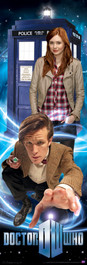 "11th Doctor, Amy and the TARDIS Poster 11.75"" X 36"""