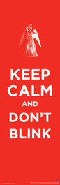 "Keep Calm Don't Blink Poster 11.75"" X 36"""