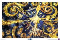 "Exploding TARDIS Poster 36"" X 24"""