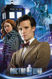 "The 11th Doctor, Amy, Weeping Angels and The TARDIS Poster 24"" X 36"""