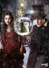 11th Doctor and Clara Christmas Special 11 x 17 Print
