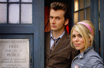 10th Doctor and Rose with TARDIS Print