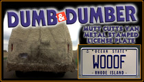 "License Plate - DUMB and DUMBER - ""WOOOF"""