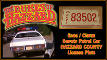 "License Plate - The DUKES of HAZZARD - ""83502"""