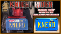 "License Plate - KNIGHT RIDER - ""KNERD"""