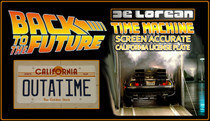 "License Plate - BACK to the FUTURE - ""OUTATIME"""