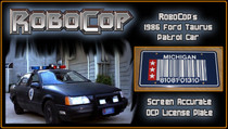 License Plate - ROBOCOP - RoboCop's Patrol Car