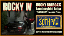 "License Plate - ROCKY IV - ""SOTHPAW"""
