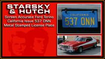 """License Plate - STARSKY & HUTCH - """"537 ONN"""""""