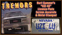 """License Plate - TREMORS - """"UZI 4U"""""""