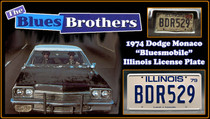 "License Plate - The BLUES BROTHERS - ""BDR529"""
