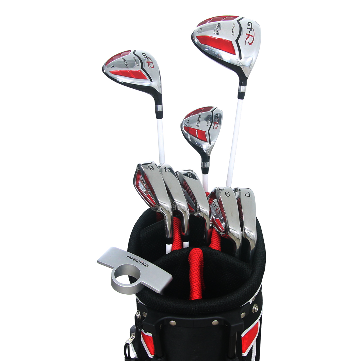precise women 39 s standard gt r 13 piece golf set with stand bag. Black Bedroom Furniture Sets. Home Design Ideas